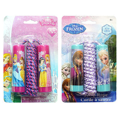 Disney Character Girls Skipping Jump Rope Frozen & Princess Outdoor Toy Gift New