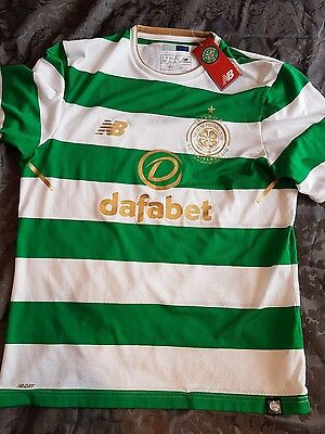 celtic home shirt 17/18 small authentic