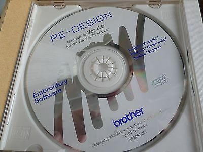 Brother Pe Design Upgrade To Ver 5.0, Embroidery Software Cd, Genuine
