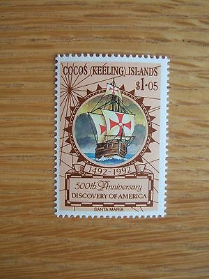 COCOS KEELING ISLANDS 1992 COLUMBUS ANNIVERSARY 1v MINT MNH SG264