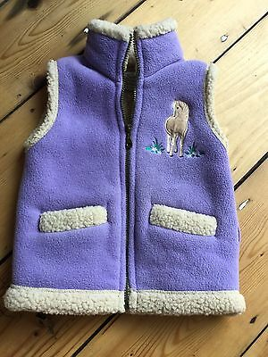 Girls Horse Waistcoat Age 3/4 Country Collection Mint