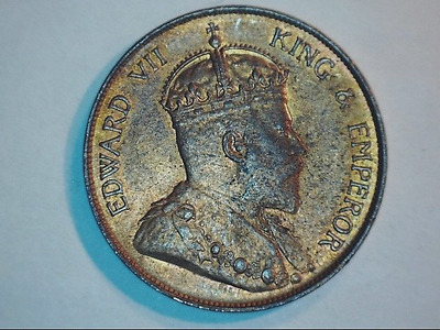 1904-H Hong Kong - 1 cent Coin - King Edward VII - Mint Condition