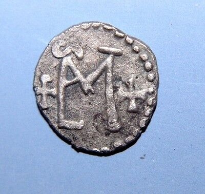 Merovingian Silver indeterminate MINT Coin with monograms 7th-8th centuries