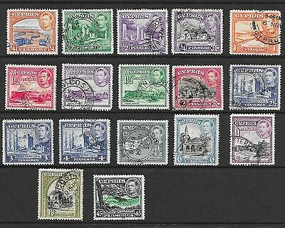 Cyprus Sg 151 - 161 Used Short Set