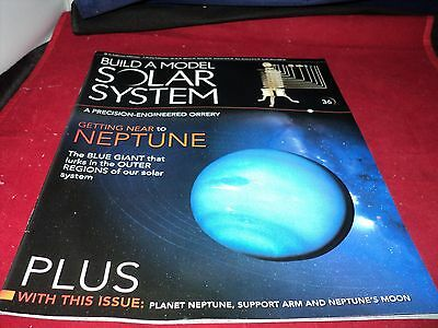 Eaglemoss Build A Model Solar System - Issue 36 - planet Neptune & support USED