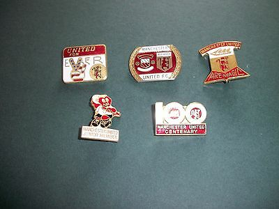 5 Manchester United Football Club Enamel Badges Reeves