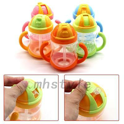1PC Sippy Cups With Handles Baby Straw Cup Drinking Bottle Children Training Cup