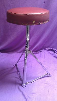 VERY RARE Vintage Premier Red Top tripod drum stool TALL MODEL gc