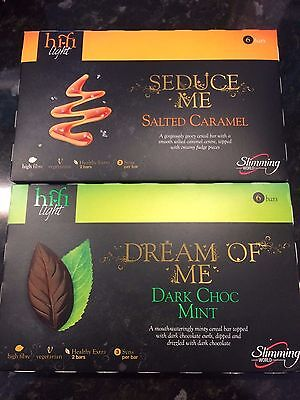 Slimming World Hi Fi Bars - Salted Caramel & Dark Choc Mint - **12 bars in total
