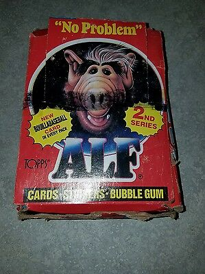 1987 Topps ALF 2ND Series Tv Show Trading Cards Full Wax Box ~ 48 Sealed Packs