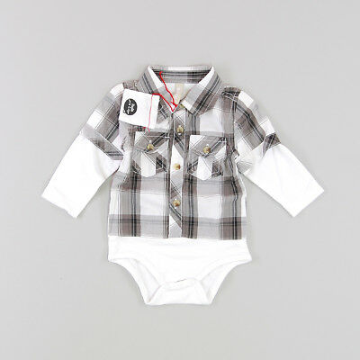 Camisa body color Gris marca Paglie 6 Meses