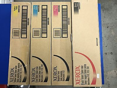 Xerox Wc 7132/ 7232/ 7242 Toner Set Black, Yellow, Cyan, Magenta, 006R01317,