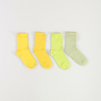 Pack 4 pares calcetines color Verde 6 Años