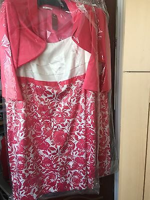 Womens  Mother Of The Bride  Groom Berkertex  Dress & Jacket Size 24 Bnwt