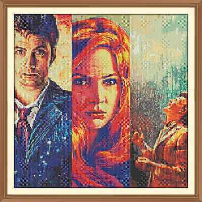 Time-Lord Dr Who Cross Stitch Chart  x 12.0 x 12.0