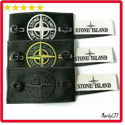 Genuine Stone Island Badge Patch X3, Buttons Label For Jumper, Jacket Coat Drake