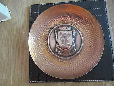 vintage french metal and copper plate