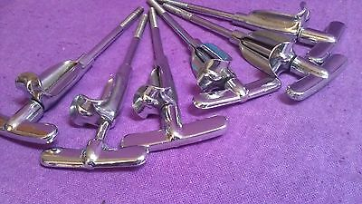 6 x Vintage Premier Olympic T-rods and claws for bass drum  50's good condition