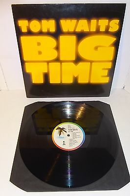 TOM WAITS BIG TIME ORIGINAL 1988 ISLAND UK 1st PRESS LP - Near Mint