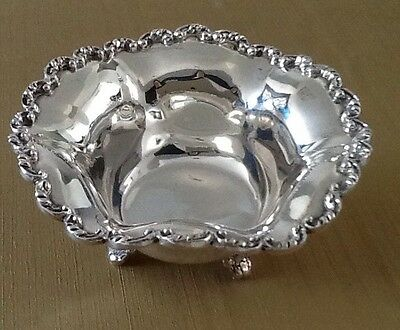 Vintage Sterling Silver Footed Bowl Mexico