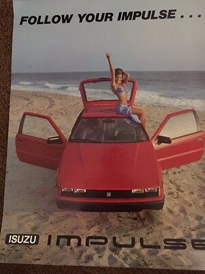 1982 Isuzu Showroom Poster featuring Penthouse Pet Corinne Alphen