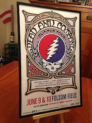 Big 11X17 Framed Dead & Company 2017 Summer Tour Live At Folsom Field 6/9 Poster