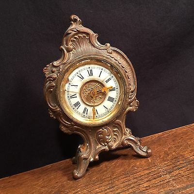 Vintage Antique Clock Ansonia USA Table Mantel PRIORITY MAIL