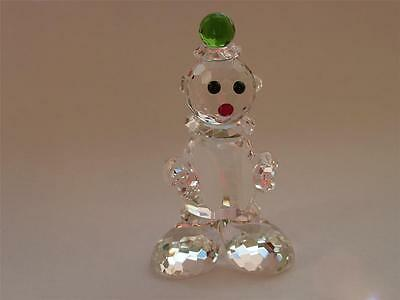 CLOWN with CYMBAL Crystal Cut Glass Circus Ornament
