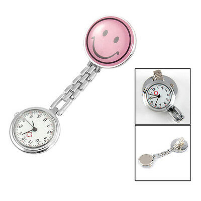 B3 New P Smiling Face Design Brooch Arabic Numerals Nurse Watch For Women