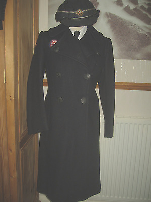 WW11 RED CROSS OVERCOAT AND HAT KC ORIGINAL [ relisted no payer ]