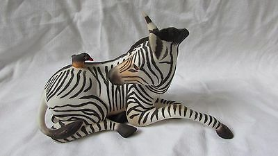 Franklin mint porcelain Zebra and bird Happy landing perfect freepost