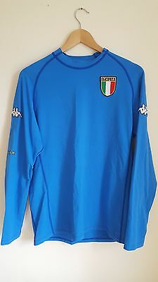 Vintage Long-sleeved Italy Home Shirt 2002/04, Kappa, Large Adult, Rare