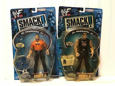 "Lot Of (2) 2000 Jakks Pacific WWF WWE Smack Down ""Big Show"" And ""Tazz"" Unopened"