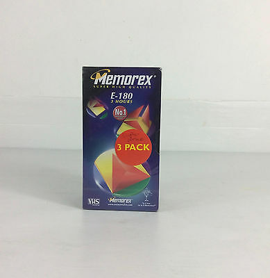 Momerex E-180 3 Pack Vhs Tapes