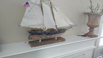Model ship America museum quality double planked with a copper tiled hull...