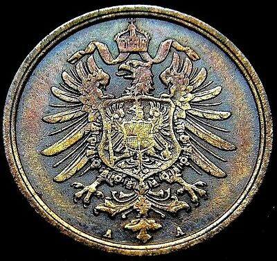 Germany 1876 - A 2 Pfennig German Empire Coin (Rl#1764) 141 Years Of History