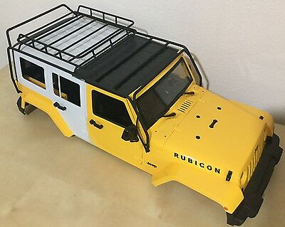 1/10 Scale Jeep Wrangler Rubicon 5 Doors 313 mm ( Hand Made ) w/ Metal Roof Rack