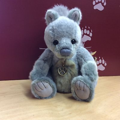 Charlie Bears Dray Plush Jointed Squirrel 9.5 Inches Bnwt