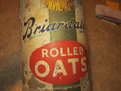 1940's VINTAGE Briardale BRAND ROLLED OATS CARTON Des Moines IA