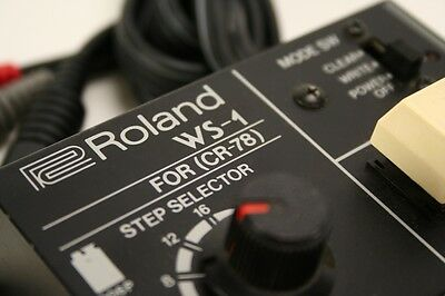 ☆ ULTRA RARE Vintage ROLAND WS-1 Programmer for CR-78 Analogue Drum Machine!☆