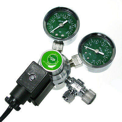 UP Twin Gauge CO2 Regulator - Solenoid - Needle Valve (A-153)