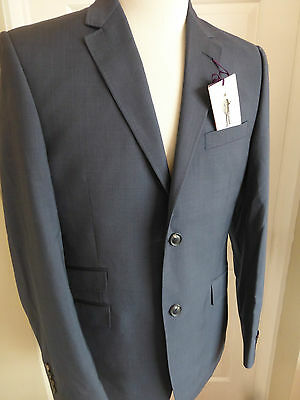 TED BAKER Endurance Blue Sessile Wool Suit Jacket size 40R