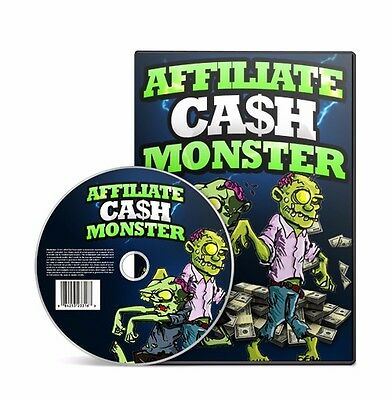 Affiliate Cash Monster Video Training Video Course + MASTER RESELL RIGHTS !