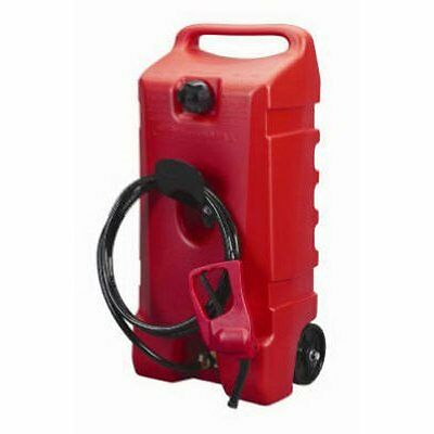 Portable Gasoline Tank Rolling Can 14 Gallon Mobile Fuel Storage Gas Siphon Pump