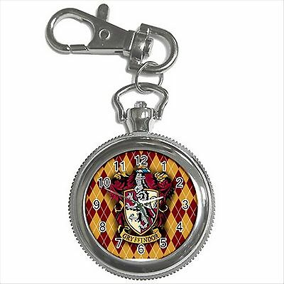 NEW HARRY POTTER GRYFFINDOR HOGWARTS SCHOOL Key Chain Ring Watch Gift D05
