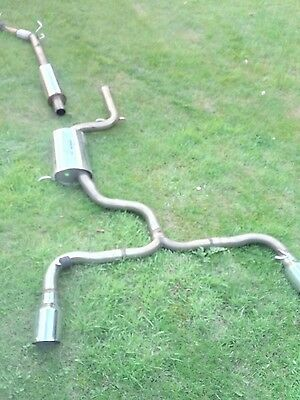 volkswagon scirocco r turbo to rear exhaust