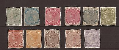 Jamaica 1883 - SG 16-26 fine MM set of 11 cat £750