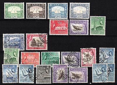 Aden 1937 Dhow's and later mint & used, good / fine  see scans (lot 111)