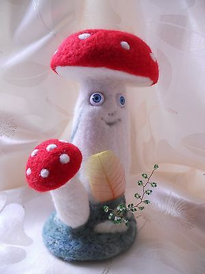 OOAK Fairy mushroom /felting wool handmade interior  toy/ gift