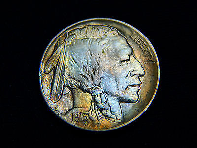 1913-D 5C Type 1 Buffalo Nickel MS+++ BU UNC, Great Toning!!